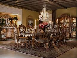 luxury dining room with grande chandelier for victorian feel