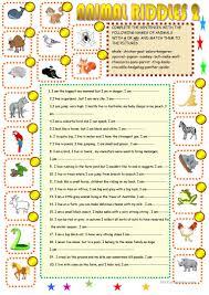 thanksgiving riddles hard 13 free esl animal riddles worksheets