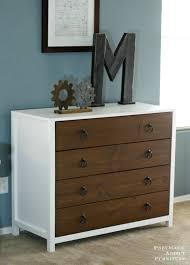 Bedroom Dresser Covers Pitterandglink Wood White Dresser Makeover Intended For And