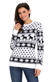 snowflake sweater black reindeer and snowflake knit sweater for you