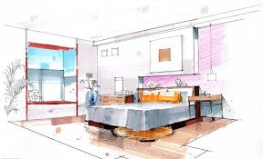 interior design color sketches architectural color pencils
