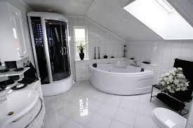 White Bathroom Decor Ideas by Luxury Bathroom Design White Vessel Bath Sink Big Wall Mirror
