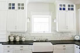 White Kitchen Cabinets Black Granite White Kitchen Cabinets With Soapstone Countertops And Backsplash