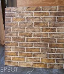 epbot diy faux brick painting tutorial you can see a lot of dark