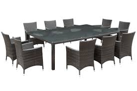 11 Piece Dining Room Set Modway Alfresco 11 Piece Dining Set With Cushions Reviews Wayfair