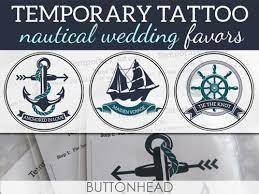 nautical wedding favors nautical wedding favors temporary tattoos