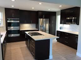 espresso kitchen cabinets with white quartz countertops espresso shaker cabinet gallery denver custom cabinetry