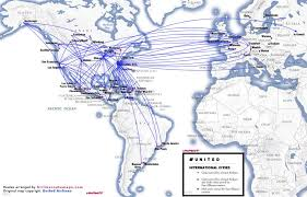 united airlines hubs airlines