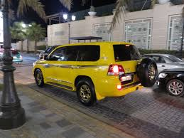 yellow toyota yellow gold toyota land cruiser gx v6 dubai marina youtube