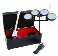 Rock Band Ottoman Cohesion Gaming Storage And Furniture Ottoman Black