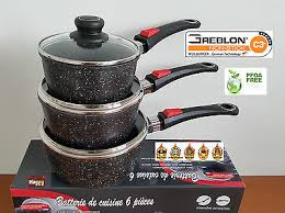 batterie de cuisine schumann service de 3 casseroles en poignée amovible poele marmite
