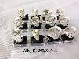 harga cincin alloy alpaka grosir cincin murah