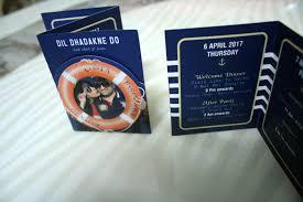 Cruise Wedding Invitations The Wedding Invites That Will Make Your Dil Dhadakne Do Weddingplz