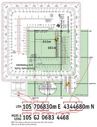 Map Reading Practice Improved Military Style Mgrs Utm Coordinate Grid Reader And