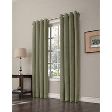 shop allen roth romanby 84 in sage polyester grommet room
