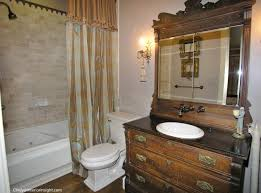Dresser Turned Bathroom Vanity Master Bathroom In This Historic Victorian Featured An Antique