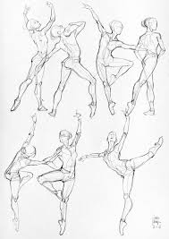 drawn dance yoga posture pencil and in color drawn dance yoga