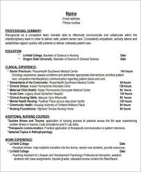 Sample Resume For Newly Graduated Student by Nurses Resume Template Billybullock Us