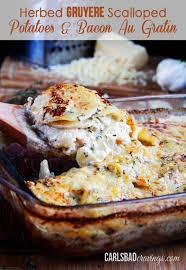 thanksgiving bacon herbed gruyere scalloped potatoes u0026 bacon au gratin recipe