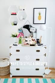 Decorating Bedroom Dresser Tops by 2 Ways To Make The Most Of Styling Your Dresser The Everygirl