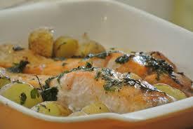 cuisiner pavé de saumon au four saumon frais roti au four dans la cuisine de fabienne