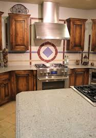 bathroom kitchen island with cooktop and eco stone countertops