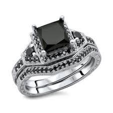 black wedding ring set black wedding ring sets wedding corners