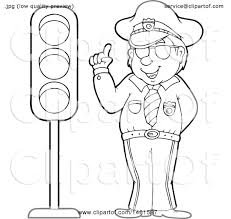 Traffic Light Clipart Clipart Of A Police Officer By A Traffic Light Royalty Free