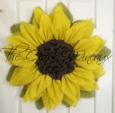 burlap sunflower wreath yellow burlap sunflower wreath the crafty wineaux