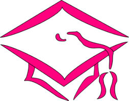 pink cap and gown class of 2013 graduation cap clip at clker vector clip