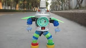 diy plastic bottle robot toy for kids crafts ideas youtube
