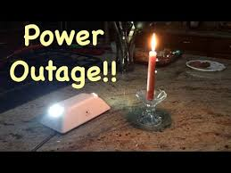 light that comes on when power goes out power outage with my emergency lights youtube