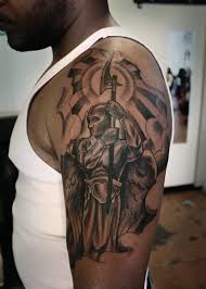 warrior angel tattoo on back for men photo 2 photo pictures