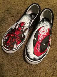 deadpool wrapping paper splatter paint custom deadpool shoes