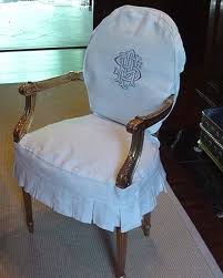 look ma i u0027m sewing slipcovers monogrammed dining chairs in