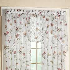 Crushed Sheer Voile Curtains by Princeton Sheer Floral Window Treatment
