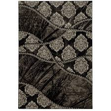Brown And Black Rugs Direct Home Textiles Rugs Flooring The Home Depot