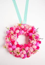 how to make an easter egg wreath diy floral easter egg wreath design improvised