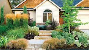 Backyard Grass Ideas Landscaping Ideas With Stone Sunset