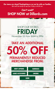 dillards newsletters this is shop our thanksgiving sale