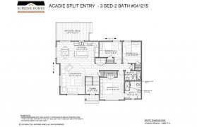 100 split foyer floor plans acadie split cr supreme homes