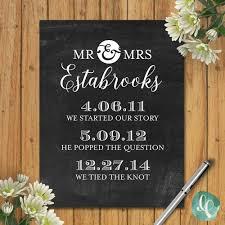 our love story timeline printable decor custom wedding zoom
