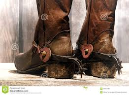 american motorcycle boots american west legend cowboy boots and riding spurs royalty free