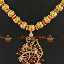 gorgeous gold plated necklace set south indian jewellery
