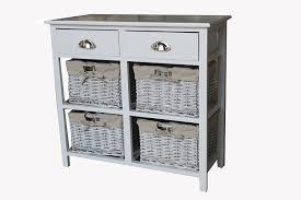 storage unit with wicker baskets shabby chic modern wooden white sideboard hallway cabinet storage