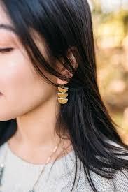 new new earrings atl harvest half circle earrings atl atlanta brass