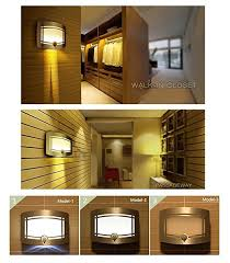 Battery Wall Sconce Lighting Signstek 10 Led Wireless Light Operated Motion Sensor Activated