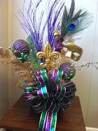 How To Make Mardi Gras Decorations Mardi Gras Centerpiece Idea Mardi Gras Decorations Pinterest