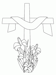 easter cross coloring sheets move the children to be creative