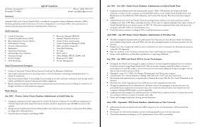 Resume Sample Unix Administrator by Data Administrator Sample Resume